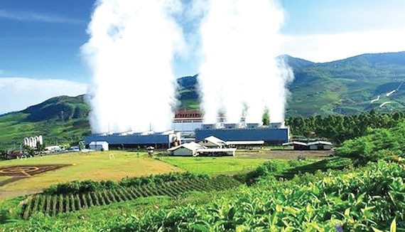 Nhà máy điện địa nhiệt Wayang Windu trên đảo Java