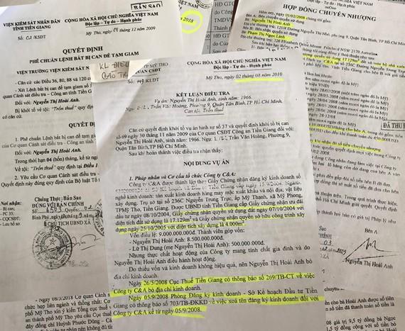 Hồ sơ liên quan đến vụ việc
