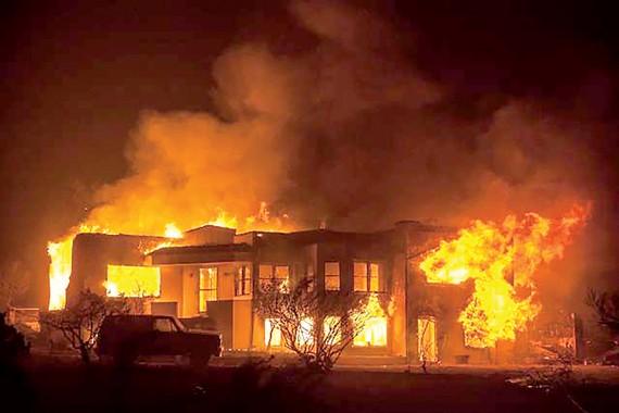 Cháy rừng thường xuyên tại California đang làm gia tăng rủi ro của các công ty trong khu vực