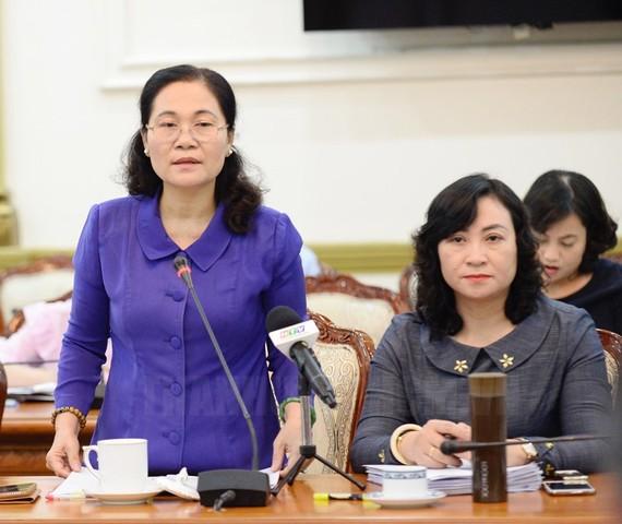 Đồng chí Nguyễn Thị Lệ phát biểu tại buổi giám sát. Ảnh: hcmcpv