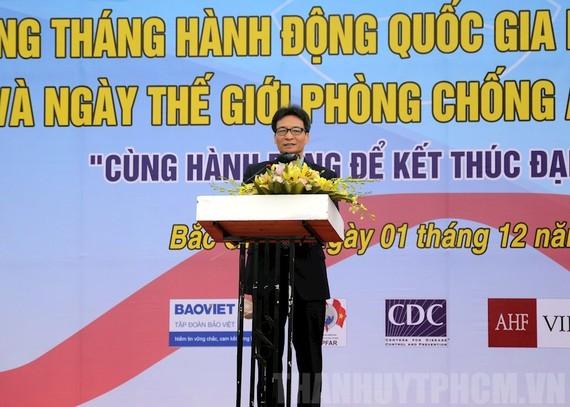 Phó Thủ tướng Vũ Đức Đam phát biểu tại buổi lễ. Ảnh: hcmcpv