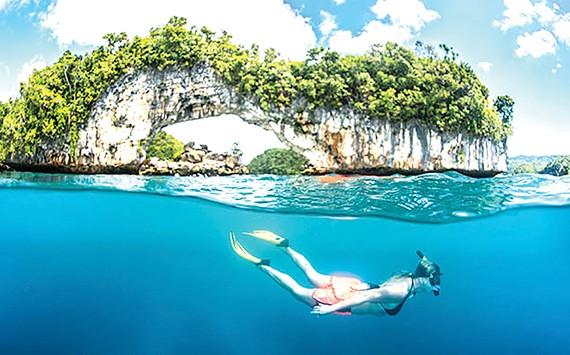 Thiên đường lặn biển cấm kem chống nắng