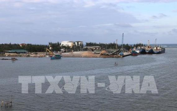 Khu bến cảng Bắc Cửa Việt thuộc cảng biển Cửa Việt. Ảnh: TTXVN