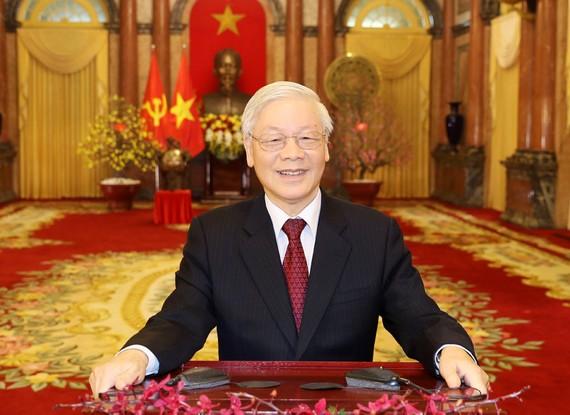 Tổng Bí thư, Chủ tịch nước Nguyễn Phú Trọng đọc Thư chúc Tết cổ truyền Canh Tý 2020