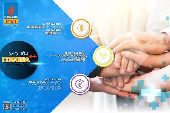 Bảo hiểm PVI ra mắt sản phẩm bảo hiểm Corona++