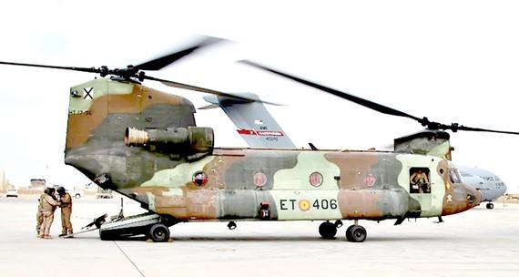 Máy bay của quân đội Mỹ hạ cánh xuống căn cứ không quân Ain al-Asad, ở Anbar, Iraq  ngày 13-1-2020. Ảnh: AP