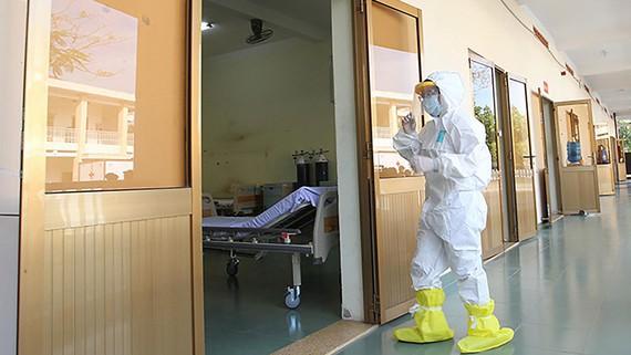 Một góc Bệnh viện bệnh lý hô hấp cấp tính Củ Chi TPHCM phòng chống dịch Covid-19 trên địa bàn TPHCM tại ấp Bàu Đưng, xã Nhuận Đức, huyện Củ Chi. Ảnh: HOÀNG HÙNG