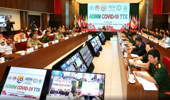 Các đại biểu tham dự tại điểm cầu Hà Nội. Ảnh: TTXVN