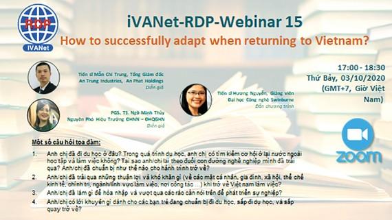 Chương trình tọa đàm trực tuyến do RDP tổ chức