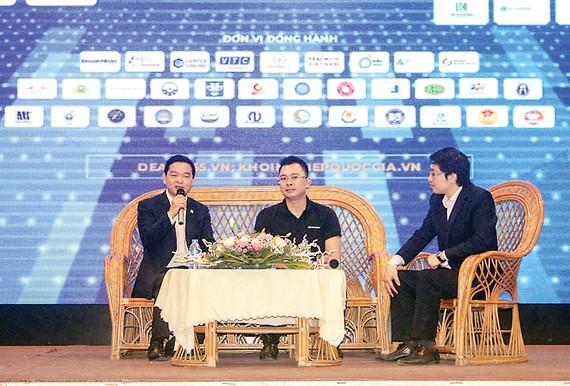 Ông Lê Viết Hải tại buổi gặp gỡ với sinh viên tại Trường Đại học Kiến trúc Hà Nội