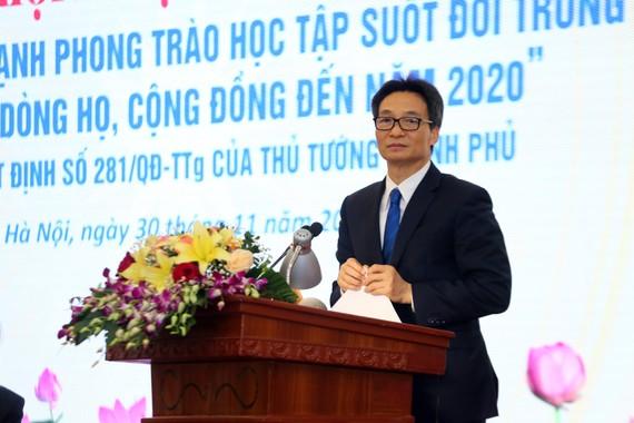 Phó Thủ tướng Vũ Đức Đam phát biểu tại hội nghị. Ảnh: VGP/Đình Nam