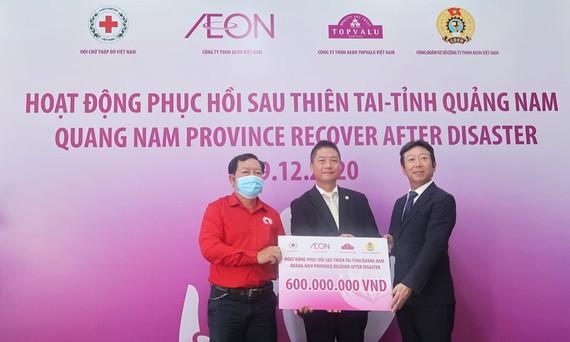 AEON ủng hộ từ thiện