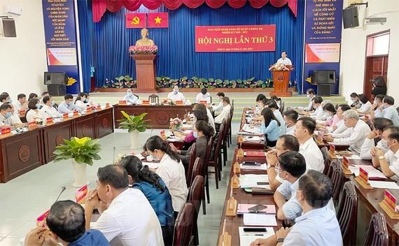 Quang cảnh hội nghị lần thứ 3 Ban chấp hành Đảng bộ Quận 8 khoá XII, nhiệm kỳ 2020-2025. Ảnh: hcmcpv