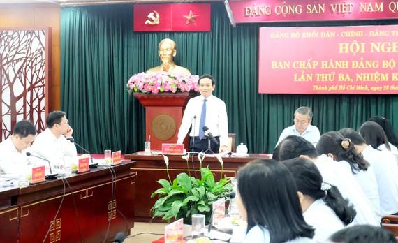 Đồng chí Trần Lưu Quang phát biểu chỉ đạo hội nghị