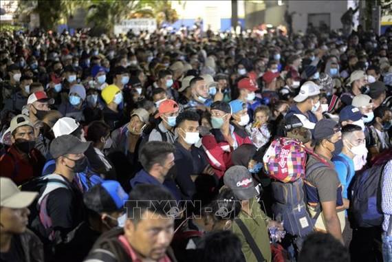 Người di cư tại khu vực El Florido, Guatemala, trong hành trình tới Mỹ ngày 15-1-2021. Ảnh: AFP/TTXVN