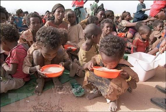 Phụ nữ và trẻ em tại trại tị nạn Kebribeyah, miền đông Ethiopia. Ảnh: AFP/TTXVN