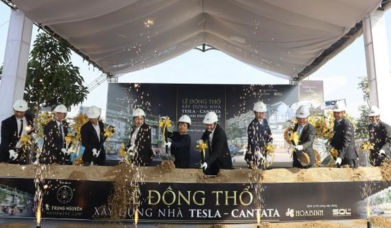 Trung Nguyên Legend và các đối tác thực hiện Lễ động thổ xây dựng nhà Tesla - Cantata