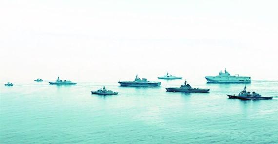 Tàu chiến các nước tham gia tập trận ARC21