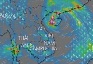 Bão số 7 trên khu vực đảo Hải Nam (Trung Quốc)