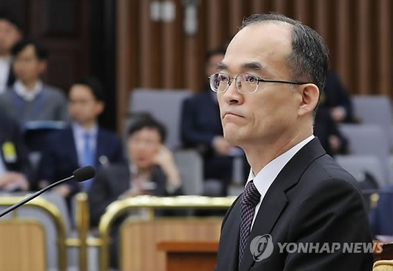 Prosecutor-General Moon Moo-il attends a parliamentary session of a special committee on prosecution reform at the National Assembly on March 13, 2018. (Yonhap)