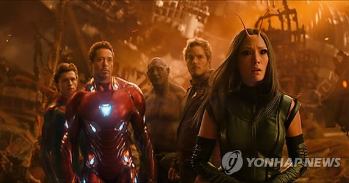 """A still from """"Avengers: Infinity War"""" (Yonhap)"""