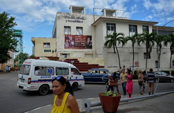 Havana's Calixto Garcia Hospital, where one of the three survivors of the Cubana de Aviacion plane crash has died, state media say. — AFP/VNA Photo