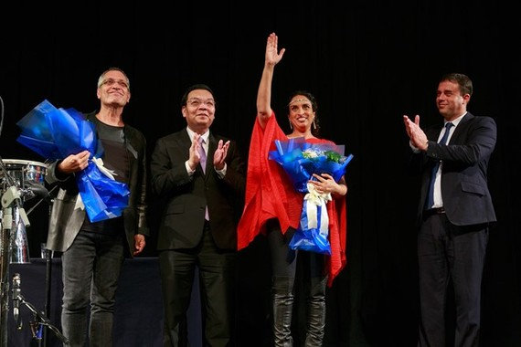 A performance of Israeli singer Noa in Hanoi earlier this year to celebrate the 25th founding anniversary of Vietnam-Israel diplomatic ties (Source: embassies.gov.il)
