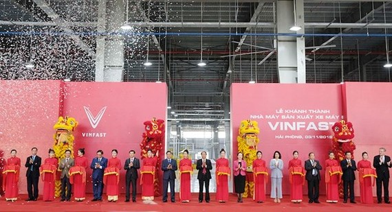 Vinfast inaugurates eScooter manufacturing plant in Hai Phong