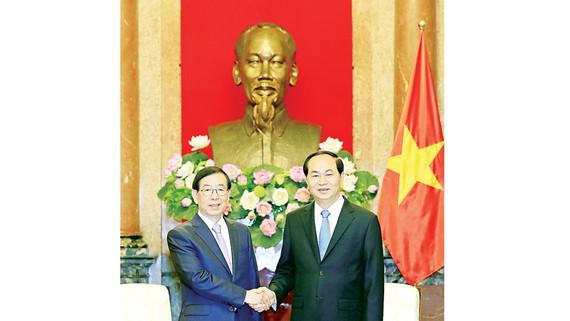 Chủ tịch nước Trần Đại Quang tiếp Ngài Park Won-soon, Đặc phái viên của Tổng thống Hàn Quốc