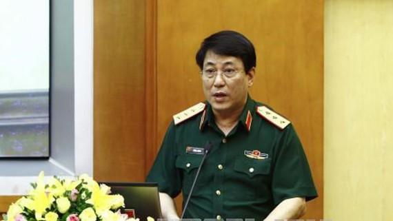 Thượng tướng Lương Cường phát biểu tại hội nghị. Ảnh: TTXVN