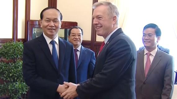 Chủ tịch nước Trần Đại Quang tiếp Đại sứ Mỹ Ted Osius