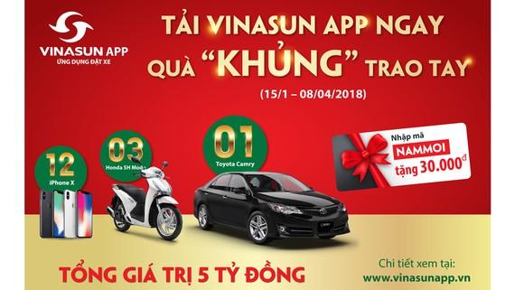 Vinasun taxi dành 5 tỷ đồng tri ân khách hàng nhân dịp năm mới 2018
