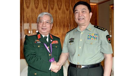 Thượng tướng Nguyễn Chí Vịnh, Thứ trưởng Bộ Quốc phòng gặp gỡ Thượng tướng Thường Vạn Toàn, Bộ trưởng Bộ Quốc phòng Trung Quốc