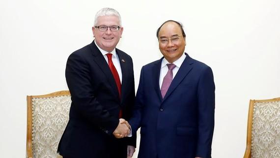 Thủ tướng Nguyễn Xuân Phúc tiếp Ngài Craig Chittick, Đại sứ Australia tại Việt Nam đến chào từ biệt, kết thúc nhiệm kỳ công tác. Ảnh: Thống Nhất/TTXVN