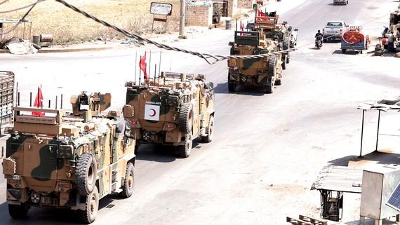 Binh sĩ Thổ Nhĩ Kỳ tại thị trấn Saraqib, tỉnh Idlib, Đông Bắc Syria. Ảnh: AFP/TTXVN