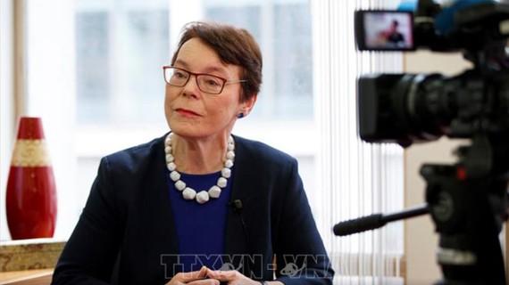 Bà Catherine McGuiness, Chủ tịch Ủy ban Chính sách và các nguồn lực của Hội đồng thành phố London. Ảnh: TTXVN