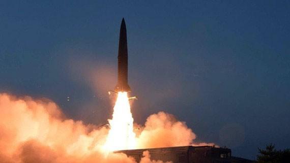 Hình ảnh một vụ phóng tên lửa của Triều Tiên. Ảnh: KCNA/REUTERS