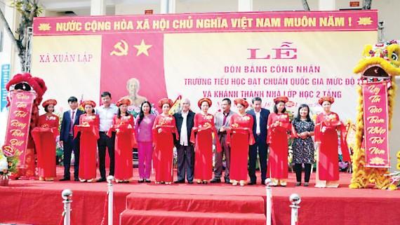 PVFCCo khánh thành khu Nhà trường Tiểu học Xuân Lập (Thanh Hóa)