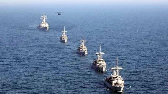 Các tàu chiến tham gia tập trận. Nguồn: Euresia Daily