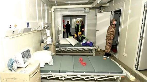 Bệnh viện dã chiến Huoshenshan đi vào hoạt động. Ảnh: Womenofchina.cn