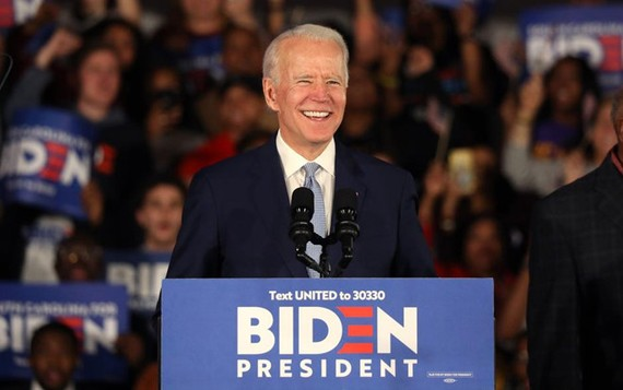 Ông Joe Biden đang là ứng viên số 1 của đảng Dân chủ. Ảnh: REUTERS