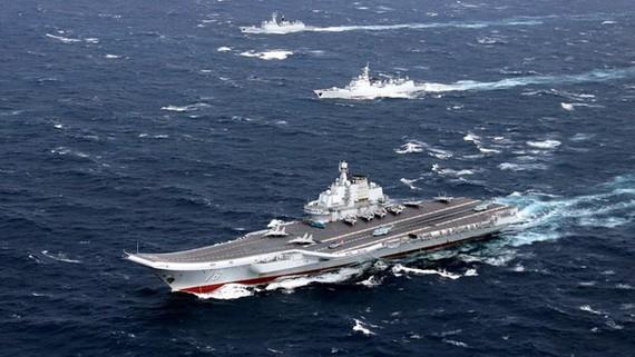 Tàu sân bay Liêu Ninh của Trung Quốc. Ảnh: DW