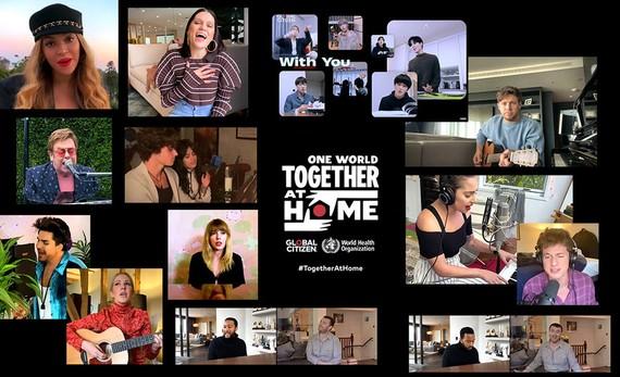 Các nghệ sĩ biểu diễn trong One World: Together at Home
