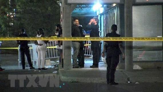 Hiện trường vụ xả súng tại hộp đêm ở Toronto, Canada, ngày 5-8-2019. Nguồn: CTV News/TTXVN