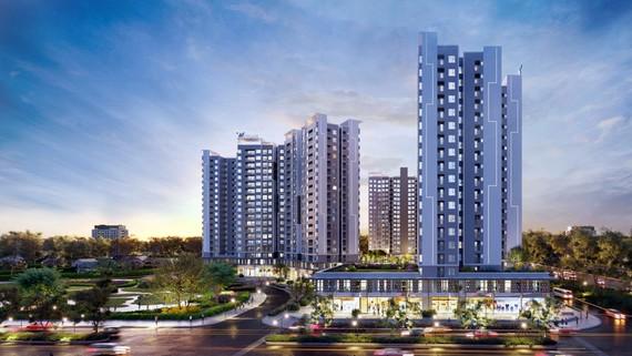 Phối cảnh dự án Westgate - khu căn hộ trung tâm hành chính Tây TPHCM