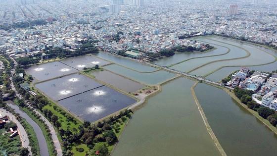 Hồ xử lý của Nhà máy Xử lý nước thải sinh hoạt Bình Hưng Hòa. Ảnh: CAO THĂNG