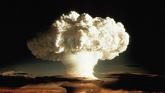 Một vụ nổ bom hạt nhân. Ảnh minh họa: Reuters