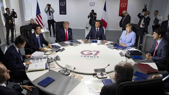 Một hội nghị của nhóm G7 hồi năm 2019. Ảnh: AP