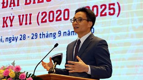 Phó Thủ tướng Vũ Đức Đam phát biểu tại đại hội. Ảnh: VGP/Đình Nam