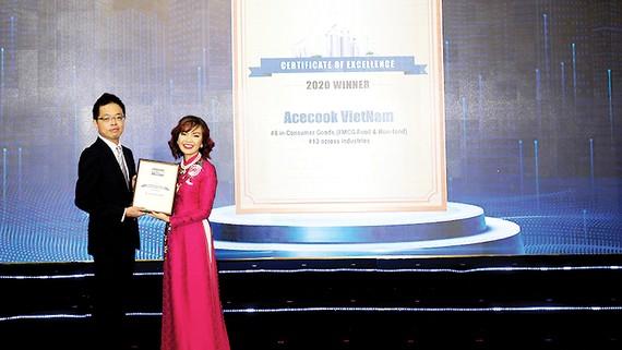 Acecook Việt Nam vào Tốp 10 Doanh nghiệp tiêu biểu có nguồn nhân lực hạnh phúc 2020